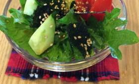 超簡単!適当!わさび菜の韓国チョレギサラダ風